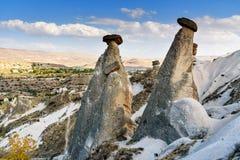 Felika lampglas nära Urgup i Cappadocia kalkon Fotografering för Bildbyråer
