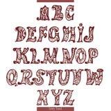 Felikt alfabet Arkivfoton