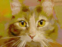 Feline - Digital Painting Stock Images