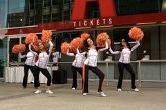 Felions, Cheerleadern der BC Löwen Lizenzfreie Stockfotografie
