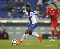 Felipe Caicedo av RCD Espanyol Royaltyfri Bild