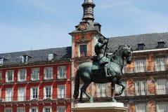 Felipe III, alcalde de la plaza imagen de archivo libre de regalías