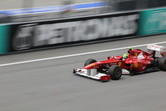 Felipe Massa in action Royalty Free Stock Image