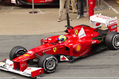 Felipe Massa außerhalb des Kastens - prüfen Sie Tage Barcelona stockbild