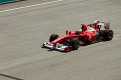 Felipe Massa bij Maleise formule 1 ras Stock Afbeelding