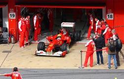 Felipe Massa in de kuilen Royalty-vrije Stock Foto