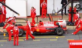 Felipe Massa in de kuilen Royalty-vrije Stock Foto's