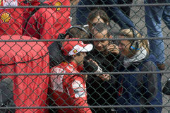 Felipe Massa e termas Francorchamps da raça de fórmula 1 Fotos de Stock Royalty Free