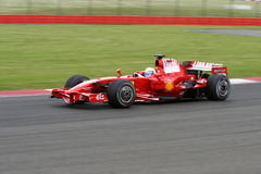 Felipe Massa Ferrari à Silverstone Image libre de droits