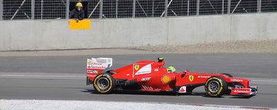 Felipe Massa Ferrari au généraliste de Montréal Image stock