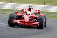 Felipe Massa Ferrari em Silverstone fotos de stock royalty free