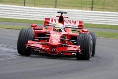 Felipe Massa Ferrari en Silverstone fotos de archivo libres de regalías