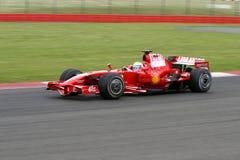 Felipe Massa Ferrari en Silverstone imagen de archivo libre de regalías