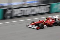 Felipe Massa nell'azione Immagine Stock Libera da Diritti