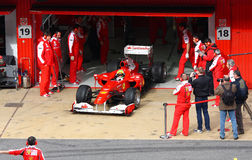 Felipe Massa in the pits Royalty Free Stock Photo