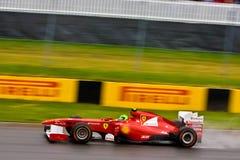 Felipe Massa que compite con en el prix magnífico de Montreal Foto de archivo libre de regalías