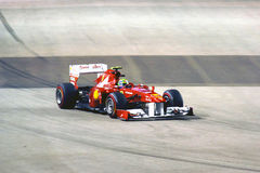 Felipe Massa's Ferrari Car In 2011 F1 Royalty Free Stock Photography