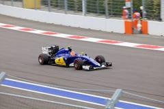 Felipe Nasr της ομάδας Sauber F1 Formula 1 Sochi Ρωσία Στοκ εικόνα με δικαίωμα ελεύθερης χρήσης