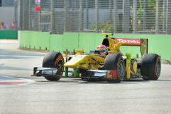 Felipe Nasr racing in Singapore GP2 2012 Royalty Free Stock Images