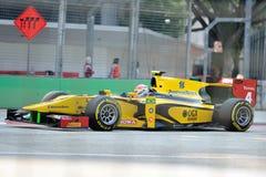 Felipe Nasr racing in Singapore GP2 2012 Royalty Free Stock Photos