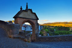 The Felipe V Arch in Ronda. Royalty Free Stock Images
