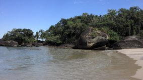 Felix Beach i Ubatuba arkivfoto