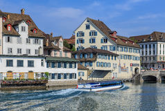 Felix boat on the Limmat river Royalty Free Stock Photo