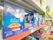 Felix cat food Stock Photo