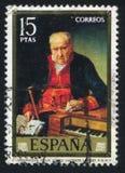 Felix Lopez. SPAIN - CIRCA 1973: stamp printed by Spain, shows The organist Felix Lopez Vicente Lopez, circa 1973 Royalty Free Stock Photos