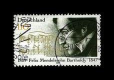 Felix Mendelssohn Bartholdy, famous German composer, pianist, author of Wedding March, Germany, circa 1997, Royalty Free Stock Photo