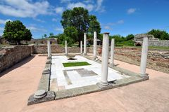 Felix Romuliana, ancient Roman archeological site, Serbia stock photography