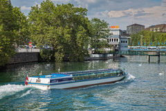 Felix ship on the Limmat river Stock Photo