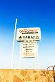 Felix Unite Camp op Oranje rivier in Namibië royalty-vrije stock afbeeldingen