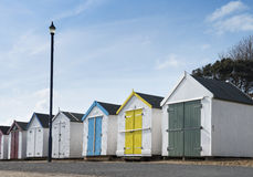 Felixstowe Beach Huts. Beach Huts at Felixstowe, Suffolk, UK Stock Photos