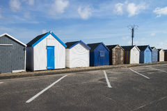 Felixstowe Beach Huts. Beach Huts at Felixstowe, Suffolk, UK Stock Image