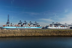 Felixstowe Container Port,UK Royalty Free Stock Photo