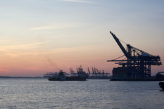 Felixstowe Docks Royalty Free Stock Image