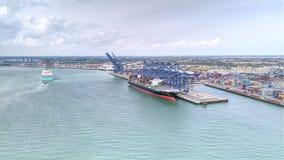 Felixstowe-Hafen Lizenzfreie Stockbilder