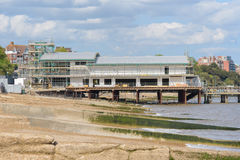 Felixstowe-Piergebäude während des Baus Stockfotografie