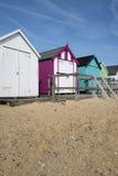Felixstowe plaży budy Obrazy Royalty Free