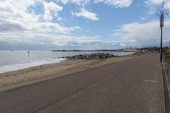 Felixstowe seafront. Beach and pier Stock Photos