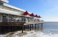 Newly refurbished pier with Cafe at Felixstowe seafront Suffolk Stock Images