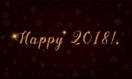 2018 feliz! Ilustração Stock