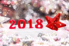 Feliz Año Nuevo 2018 Imágenes de archivo libres de regalías