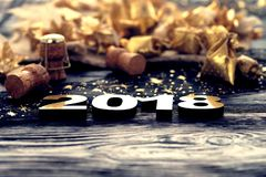 Feliz Año Nuevo 2018 Imagen de archivo libre de regalías