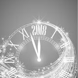 Feliz Año Nuevo 2018 ilustración del vector