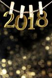 Feliz Año Nuevo 2018 Foto de archivo