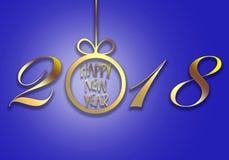 Feliz Año Nuevo 2018 libre illustration