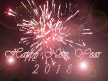 Feliz Año Nuevo 2018 Fotografía de archivo