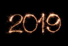 Feliz Año Nuevo 2019 imagen de archivo libre de regalías